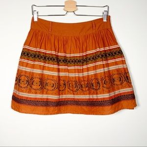 TRF ZARA Boho Embroidered Skirt 6